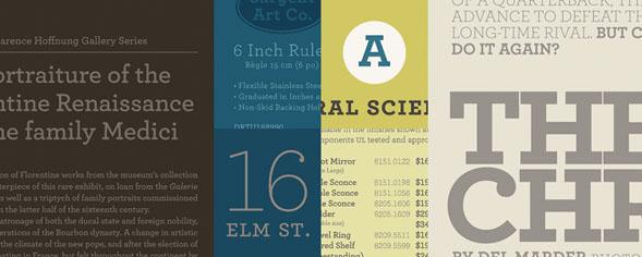Tipografía Archer Cincuenta Sombras
