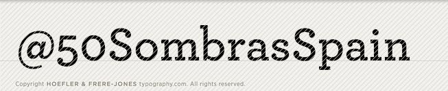 Cincuenta Sombras tipografia