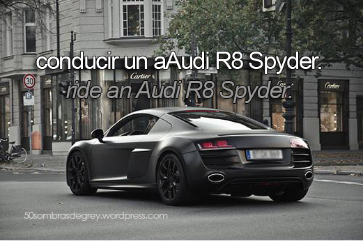 Propositos 50 Sombras Audi R8
