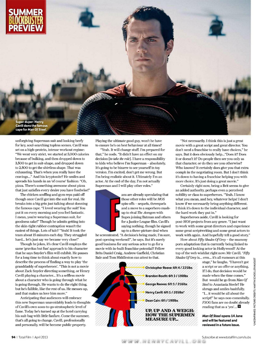 Henry Cavill Christian Grey Total Film
