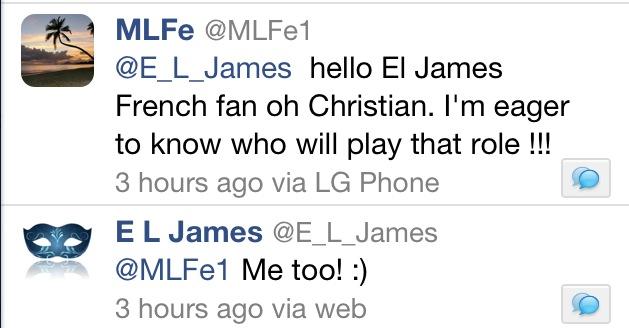 E L James about Grey