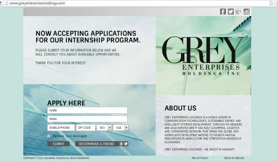 Grey Enterprises holding web 50 Sombras