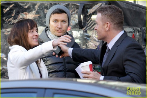 """Dakota Johnson films scenes with Max Martini on the set of """"Fifty Shades of Grey"""" **NO Canada**"""