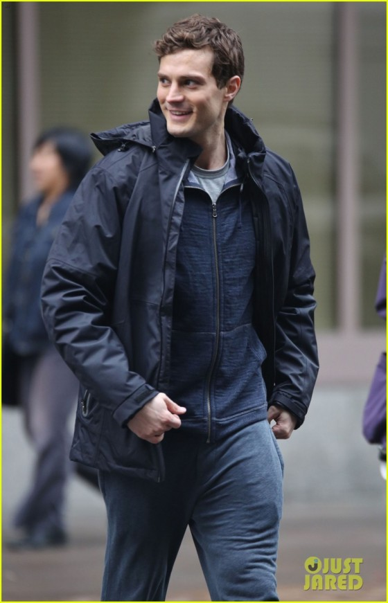 Jamie Dornan Continues Running On The Set Of 'Fifty Shades Of Grey'