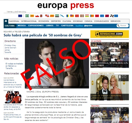 Rumor Europa Press 50 Sombras