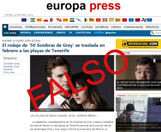 Rumor Europa Press Tenerife 50 Sombras