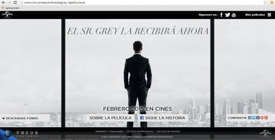 web oficial 50 Sombras
